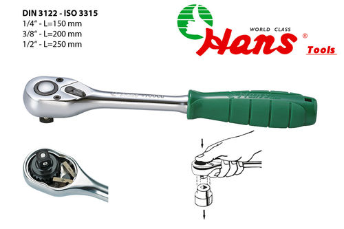 "1/4"" Ratchet handle with quick relase 36 teeth"