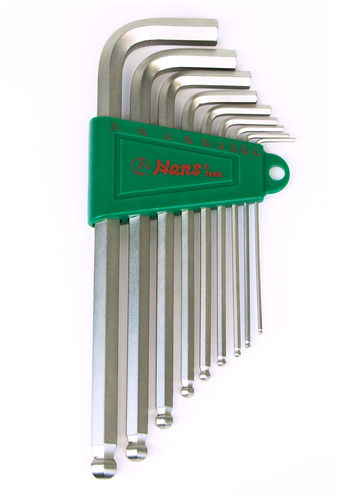 Hex Key Wrenches Ball Point Inch Sizes - Long