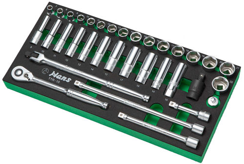 "3/8"" Socket Set in PU-Tray"