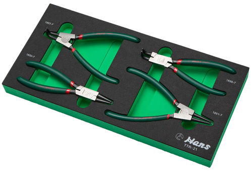 Circlip Pliers Set in PU-Tray